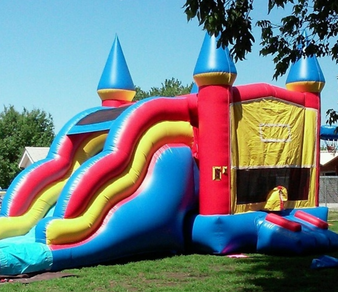Inflatable Water Slide Rental Omaha: XL Combo Castle - Bounce Houses Omaha