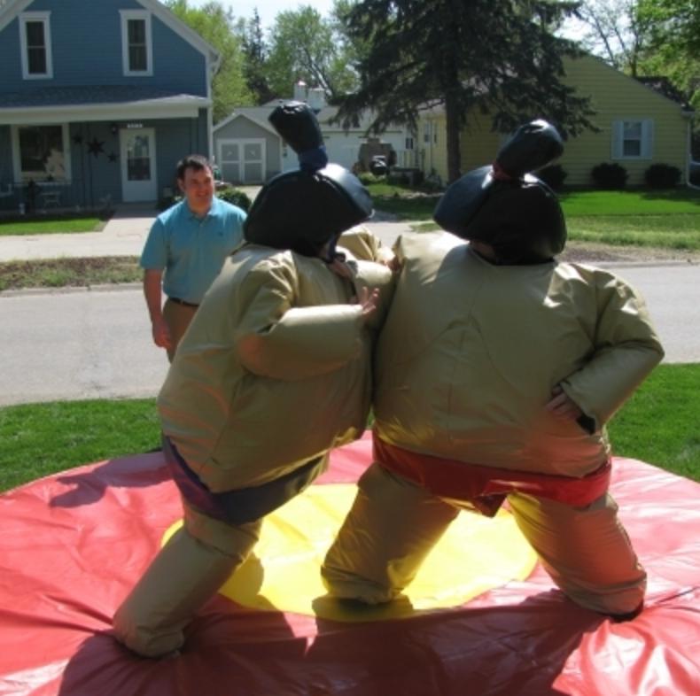 Inflatable Water Slide Rental Omaha: Sumo Suits - Bounce Houses Omaha
