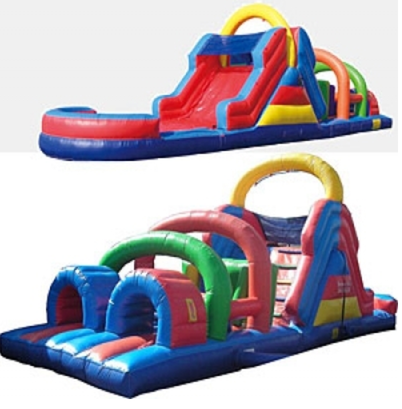 Inflatable Water Slide Rental Omaha: Waterfall Obstacle Course - Bounce Houses Omaha